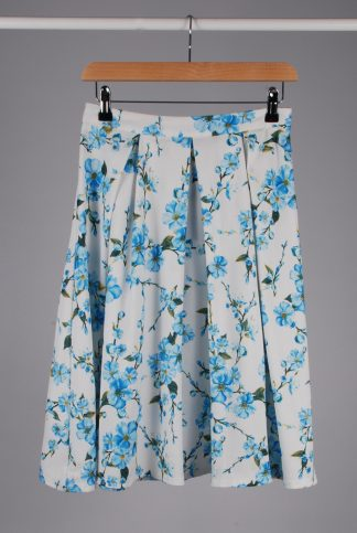 Glamorous Floral A-Line Midi Skirt - Size 10 - Front