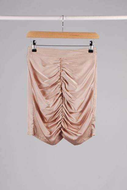 Misspap Ruched Back Mini Skirt - Size 8 - Front