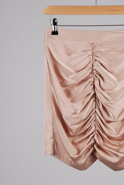 Misspap Ruched Back Mini Skirt - Size 8 - Front Detail