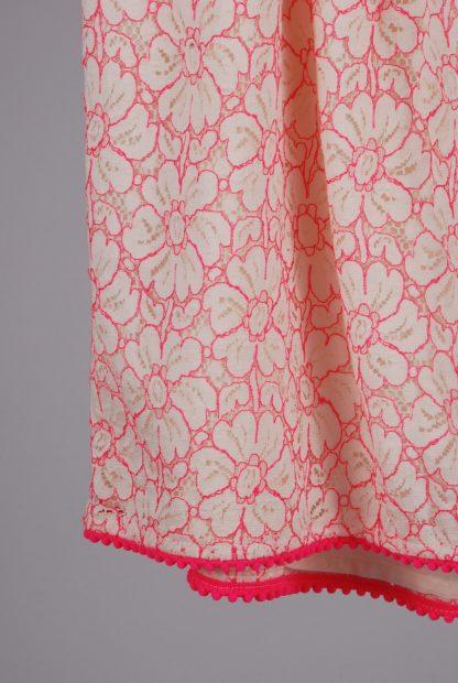 TU White & Pink Lace Top - Size 8 - Back Hem