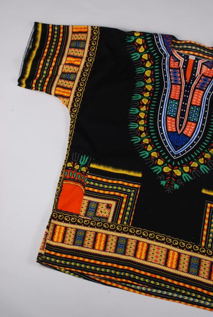 Black Abstract Pattern Oversized Top - Size L - Front