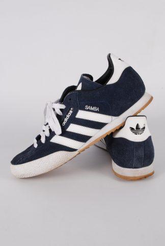 Adidas Samba Blue Suede Trainers - Size 9 - Side