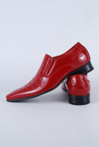 Guciani Red Patent Pointed Toe Shoes - Size 8 - Side