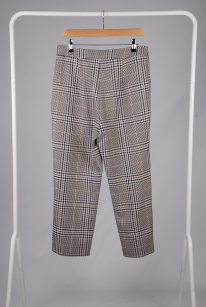 George Houndstooth Cropped Trousers - Size 12 - Back