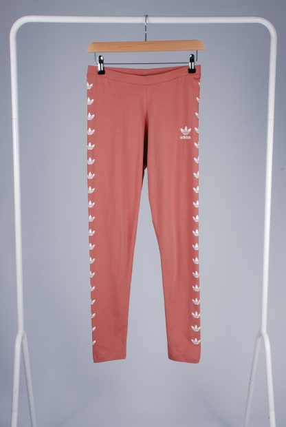 Adidas Pink Jersey Leggings - Size 10 - Front