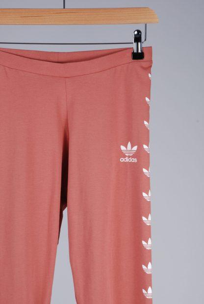 Adidas Pink Jersey Leggings - Size 10 - Front Detail