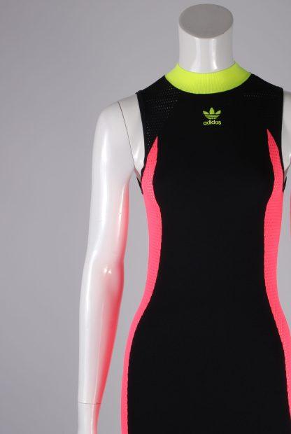 Adidas Mesh Panel Maxi Dress - Size 8 - Front Detail