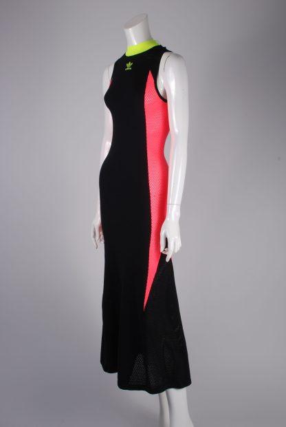 Adidas Mesh Panel Maxi Dress - Size 8 - Side