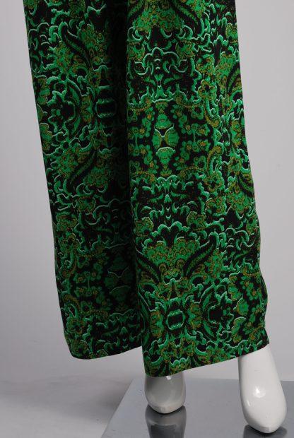 H&M Conscious Green Patterned Jumpsuit - Size 12 - Front Leg Detail