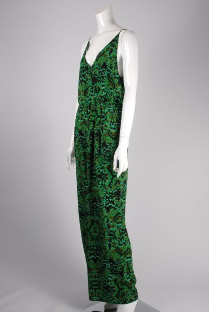 H&M Conscious Green Patterned Jumpsuit - Size 12 - Side