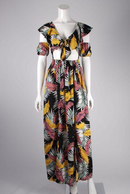 Boohoo Jungle Print Maxi Dress - Size 10 - Front