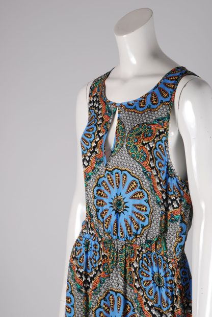 MINKPINK Abstract Pattern Maxi Dress - Size M - Side Detail