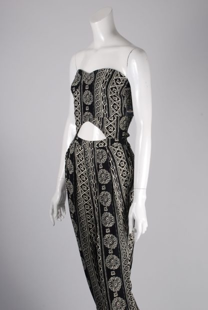 Hollister Abstract Pattern Strapless Jumpsuit - Size M - Side