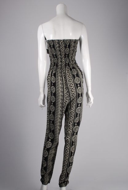 Hollister Abstract Pattern Strapless Jumpsuit - Size M - Back