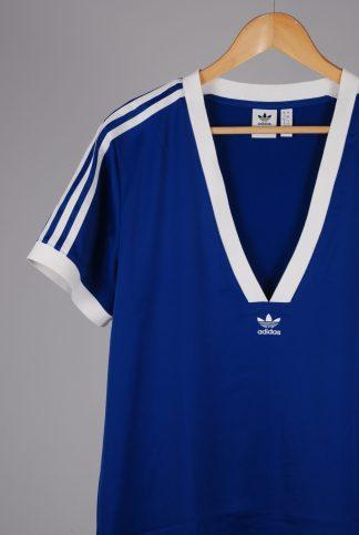 Adidas Blue Mini T-Shirt Dress - Size 12 - Front Detail