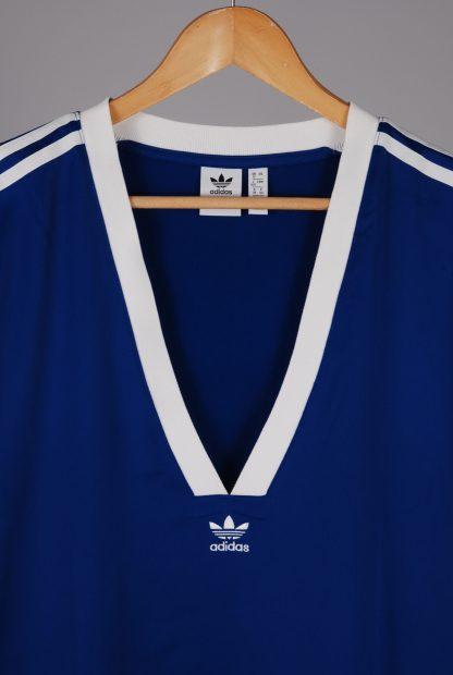 Adidas Blue Mini T-Shirt Dress - Size 12 - Front Branding