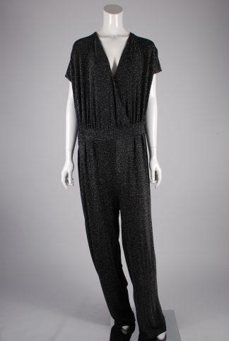 Mela London Black Shimmer Jumpsuit - Size 22 - Front