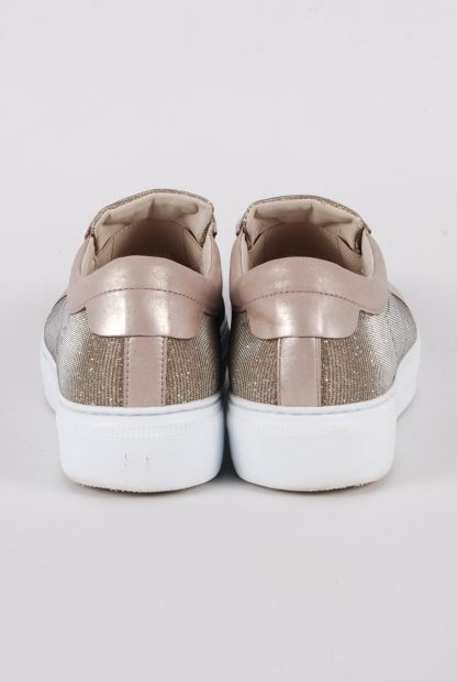Gabor Gold Tone Shimmering Trainers - Size 5 - Back Detail