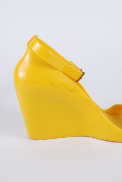 Melissa For Alexandre Herchcovitch Yellow Wedges - Size 6 - Inside Detail