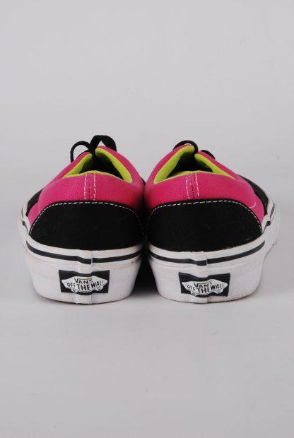 Vans Neon Pink & Green Trainers - Size 2 - Heel