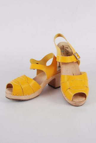 Lotta From Stockholm Yellow Clog Sandals - Size 6 - Front