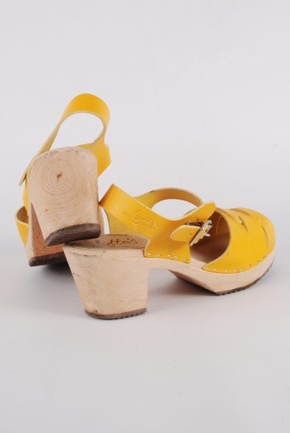 Lotta From Stockholm Yellow Clog Sandals - Size 6 - Back