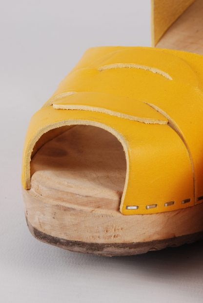 Lotta From Stockholm Yellow Clog Sandals - Size 6 - Toe