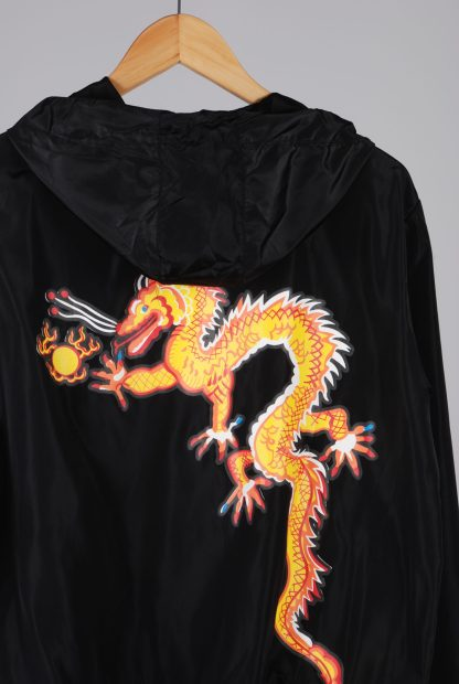 Black Dragon Decal Windbreaker Jacket - Size M/L - Back Detail