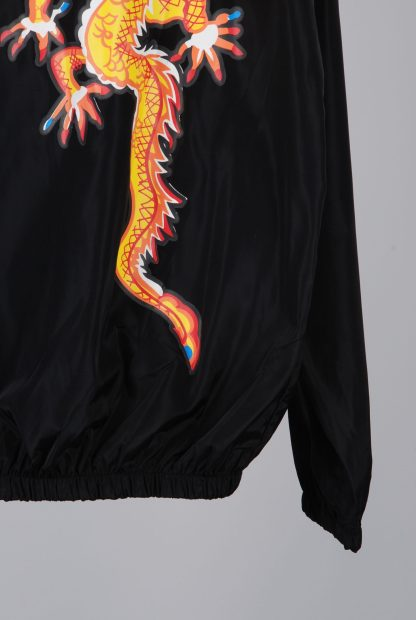 Black Dragon Decal Windbreaker Jacket - Size M/L - Back Hem