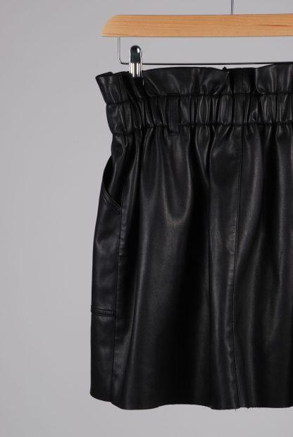 River Island PU Paperbag Mini Skirt - Size 14 - Back Detail