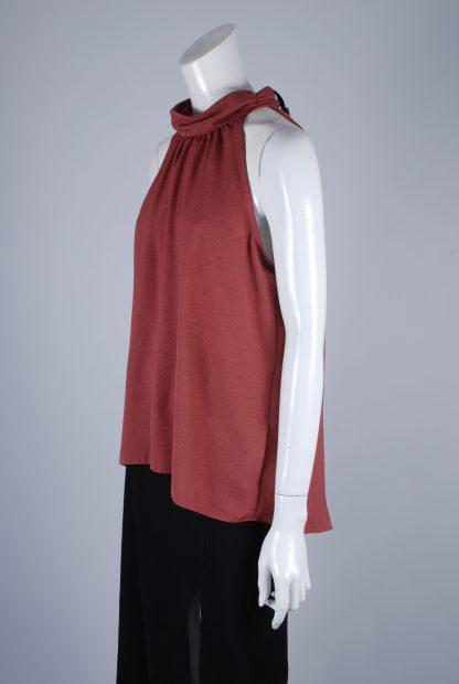 Paraphrase Pink High Neck Vest Top - Size 10 - Side