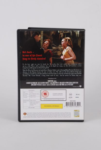 Taste The Blood Of Dracula - DVD - Back