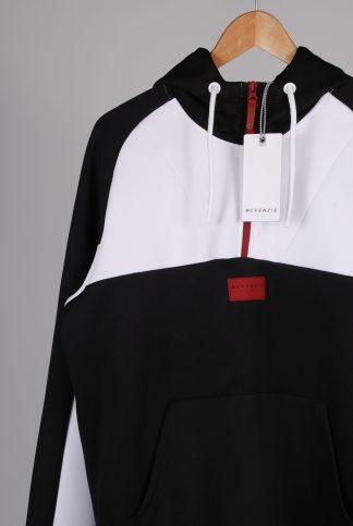 McKenzie Black & White Hoodie - Size L - Front Detail