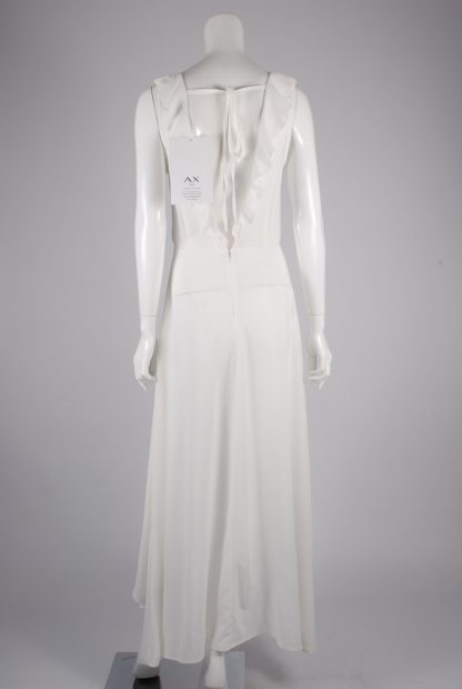 AX Paris White Plunge Maxi Dress - Size 8 - Back