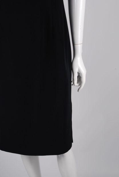 Jasper Conran Black Sleeveless Dress - Size 12 - Front Waist