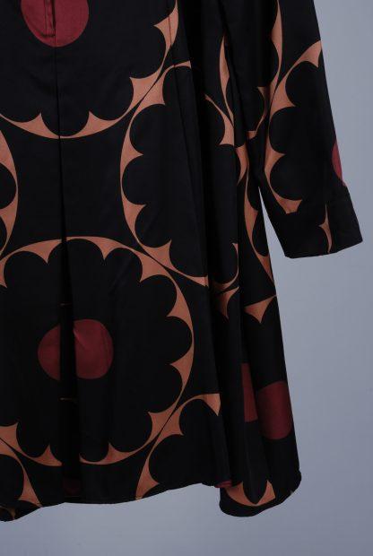 Marc Jacobs Block Floral Trapeze Dress - Size 10 - Back Hem