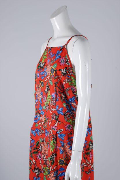 Primark Red Floral Playsuit - Size 18 - Side Detail
