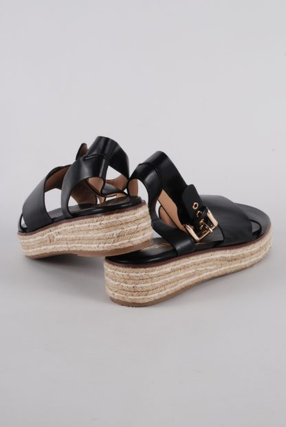 Simply Be Black Cross Toe Sandals - Size 4.5 - Back