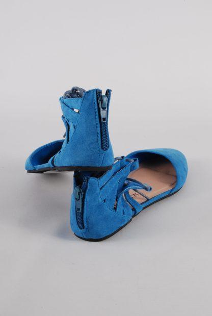 Rainbow Blue Gladiator Back Sandals - Size 4 - Back