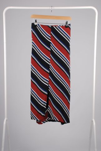 Orange & Blue Diagonal Stripe Skirt - Size 22 - Front