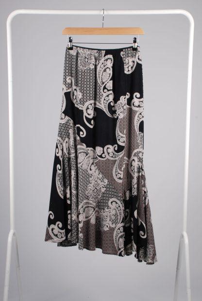 NDEH Asymmetric Hem Patterned Skirt - Size 12 - Front