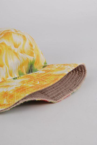 Tropical Print Bucket Hat - Brim