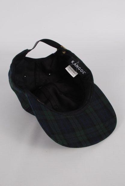 Kangol Green & Blue Tartan/Plaid Cap - Inside