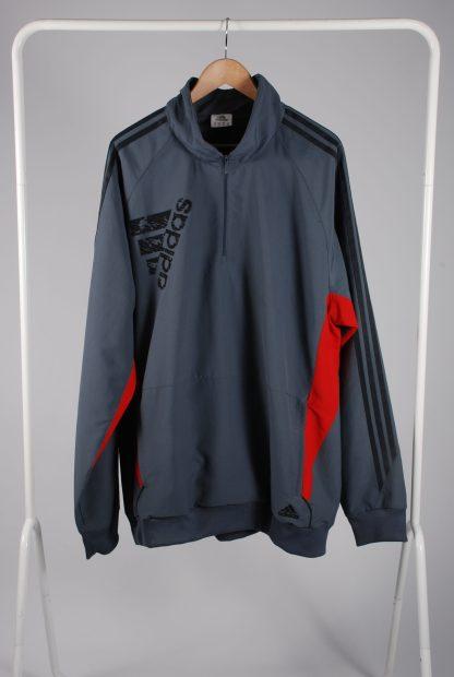 Adidas Grey Panelled Sports Jacket - Size 2XL - Front