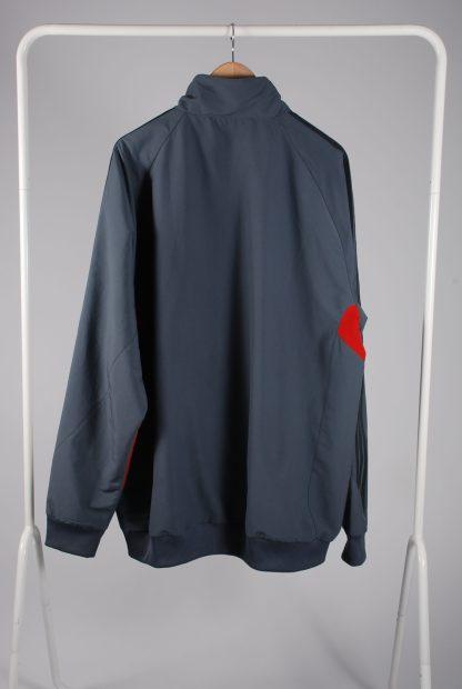 Adidas Grey Panelled Sports Jacket - Size 2XL - Back