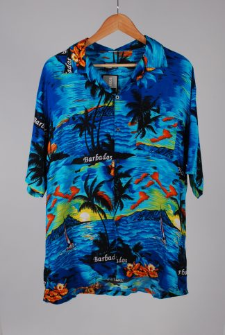 Body Club Barbados Graphic Print Shirt - Size L - Front