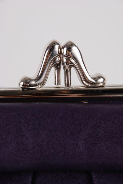 Kaur London Purple Shoe Clasp Handbag - Clasp