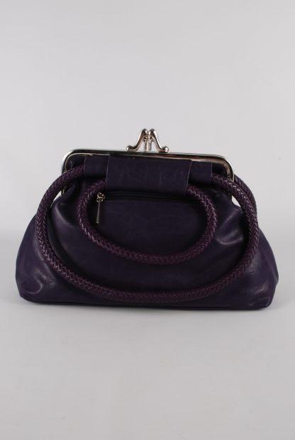 Kaur London Purple Shoe Clasp Handbag - Back