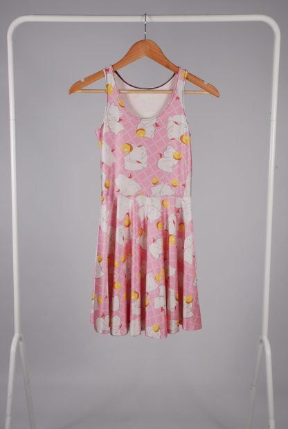Cat Graphic Print Skater Dress - Size S - Front