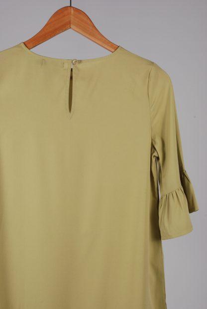 Boohoo Petite Green Frill Hem Dress - Size 8 - Back Detail